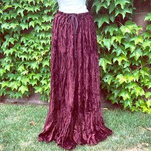 Gorgeous Velvet Broom Skirt